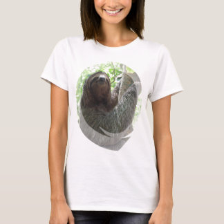 Sloth Photo Design Ladies Fitted T-Shirt