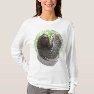 Sloth Photo Design Ladies Long Sleeve T-Shirt