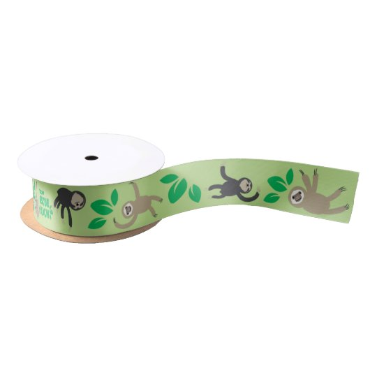 Sloth Ribbon Satin Ribbon