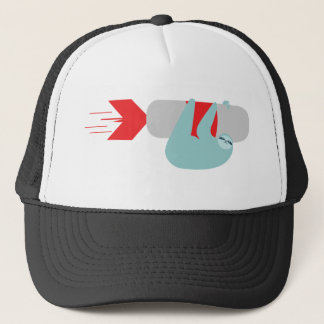 Sloth Rocket Trucker Hat