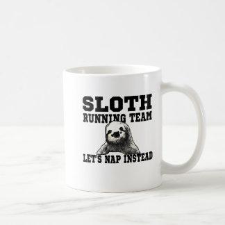 Sloth Running Team Basic White Mug