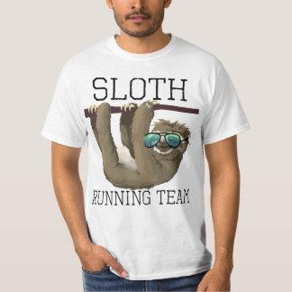 Sloth Running Team Funny Sunglasses Cute T-Shirt