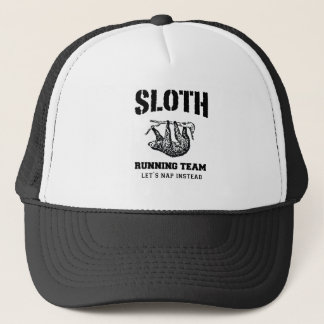 SLOTH RUNNING TEAM, LET'S NAP INSTEAD TRUCKER HAT