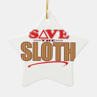 Sloth Save Christmas Ornament