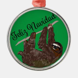 Sloth Says Feliz Navidad Christmas Ornament