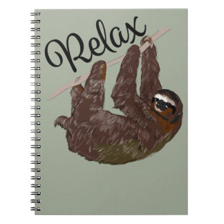 Sloth Says Relax Notebooks