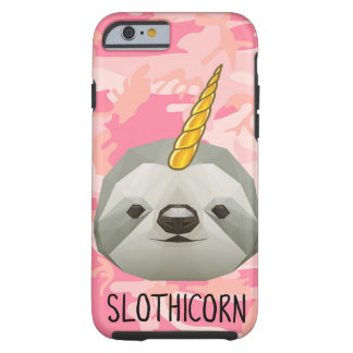 Sloth Slothicorn Unicorn Funny Meme Animal Love Tough iPhone 6 Case