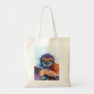 Sloth smile - watercolor tote bag
