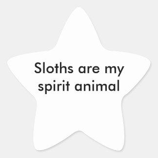 Sloth Star Sticker