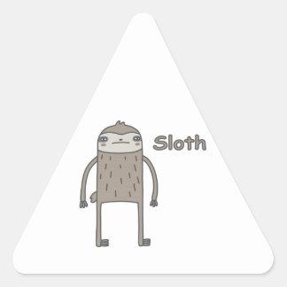 Sloth Triangle Sticker