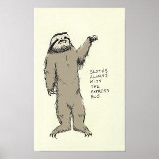 sloth trivia poster
