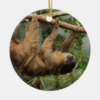 Sloth Waiting for Santa Ornament