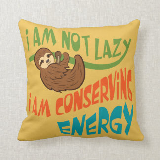 Sloth with saying. cushion