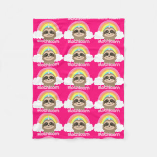 Slothicorn sloth unicorn pink blanket