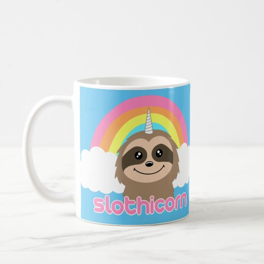 Slothicorn Sloth Unicorn Rainbow Mug
