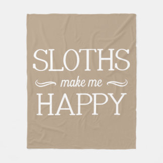 Sloths Happy Blanket - Assorted Sizes & Colors