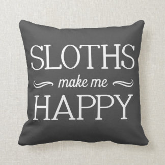 Sloths Happy Pillow - Assorted Styles & Colors