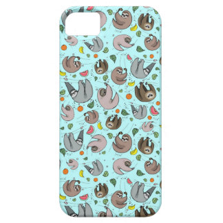Sloths in Blue iPhone 5 Cover