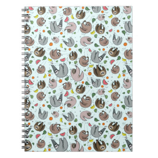 Sloths in Blue Notebook