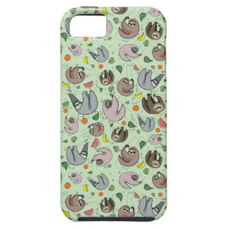 Sloths in Green Case For The iPhone 5
