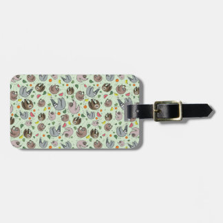 Sloths in Green Luggage Tag