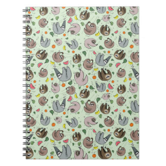Sloths in Green Notebook