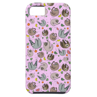 Sloths in Pink iPhone 5 Case