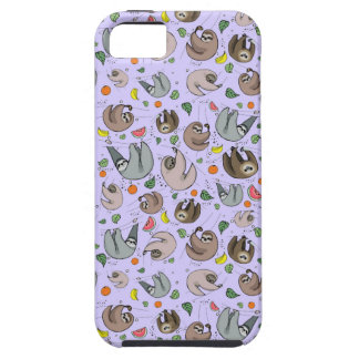 Sloths in Purple Case For The iPhone 5
