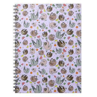 Sloths in Purple Notebook