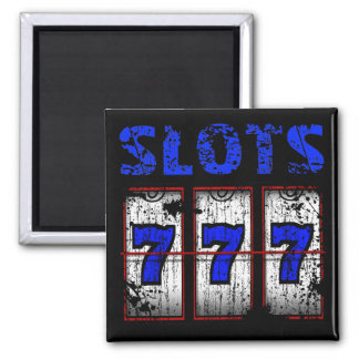 SLOTS - DISTRESSED AND AGED STYLE SQUARE MAGNET
