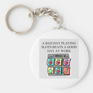 slots player casino gambler key ring