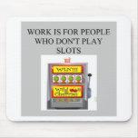 slots player casino gambler mousepad