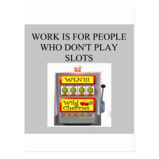 slots player casino gambler postcards