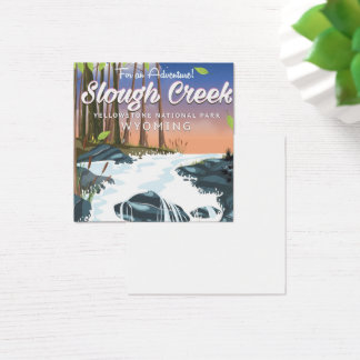 Slough Creek,Yellowstone national park Square Business Card