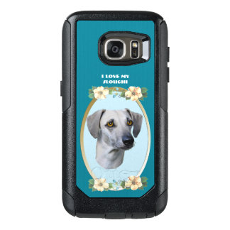 Sloughi on Teal Floral OtterBox Samsung Galaxy S7 Case
