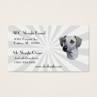 Sloughi with white Starburst Business Card