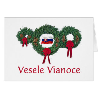Slovak Christmas 2 Card