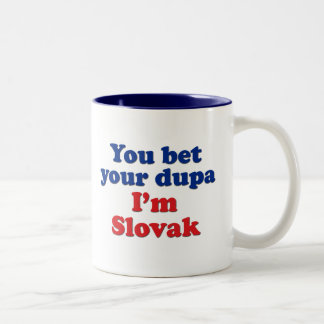 Slovak Dupa 1 Two-Tone Coffee Mug