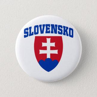 Slovak Emblem 6 Cm Round Badge
