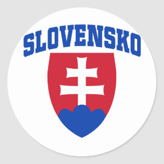 Slovak Emblem Classic Round Sticker