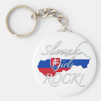 Slovak Girls Rock! Basic Round Button Key Ring