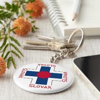 Slovak - Roundel Basic Round Button Key Ring