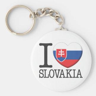 Slovakia Basic Round Button Key Ring