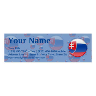 Slovakia Bubble Flag Business Card Template