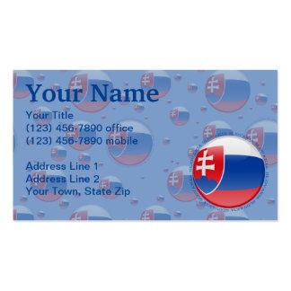 Slovakia Bubble Flag Business Cards