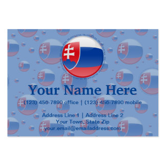 Slovakia Bubble Flag Pack Of Chubby Business Cards