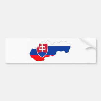slovakia country flag map shape silhouette bumper sticker