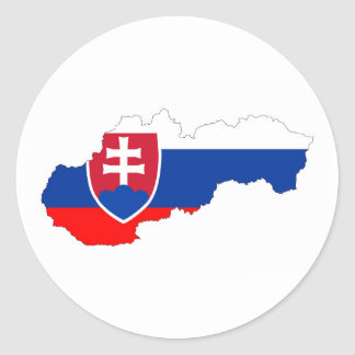 slovakia country flag map shape silhouette classic round sticker