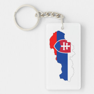 slovakia country flag map shape silhouette key ring
