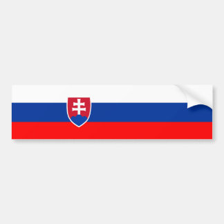 Slovakia country flag nation symbol bumper sticker